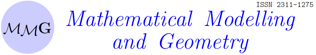 Mathematical modelling and geometry ISSN 2311-1275
